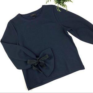 J. Crew Tie Sleeve Sweatshirt